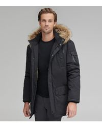 Andrew Marc Wilbur Four Pocket Synthetic Down Coat - Black