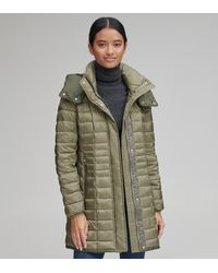 Andrew Marc Marble Lightweight Packable Synthetic Down - Green