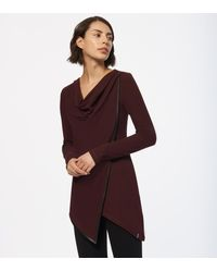 Andrew Marc Thermal Draped Tunic - Red