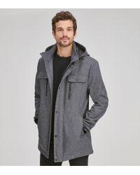 Andrew Marc Doyle Water Resistant Coat - Gray