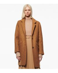 Andrew Marc Paige Wool Boucle Coat - Brown