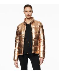 Andrew Marc - Ashylyn Metallic Super Puffer Jacket - Lyst