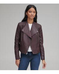 Andrew Marc Pelham Leather Scuba Jacket - Multicolour