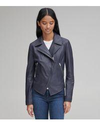 Andrew Marc - Bayside Leather Scuba Jacket - Lyst
