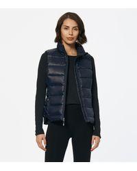 Andrew Marc Packable Puffer Vest - Blue