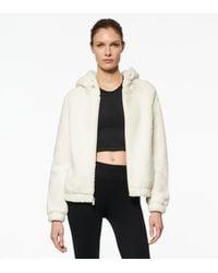 Andrew Marc Julie Faux Mink Bubble Hooded Jacket - White