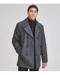 Andrew Marc - Burnett Classic Wool Peacoat - Lyst