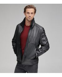 Andrew Marc Trail Master Leather Motorcycle Jacket - Black