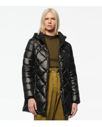 Andrew Marc Claremont Synthetic Down Diamond Quilt Puffer - Black