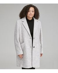 Andrew Marc Paige Plus Pressed Boucle Coat - White
