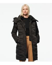 Andrew Marc Malabar Fitted Down Coat - Black