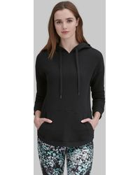 Andrew Marc Long Sleeve High-low Hooded Pullover - Black