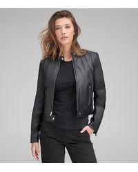 Andrew Marc Gimli Leather Moto Jacket - Black