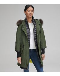 Andrew Marc Brixton Crinkle Cloth Down Parka - Green