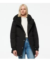 Andrew Marc Sarawee Synthetic Down Sherpa Lined Puffer - Black