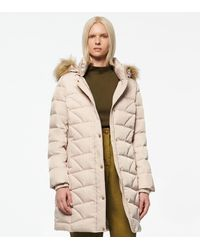Andrew Marc Medina Hexagon Quilted Down Coat - White