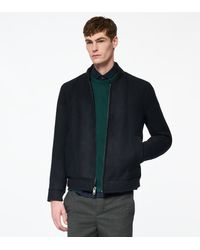 Andrew Marc Barlow Wool Bomber Jacket - Multicolour