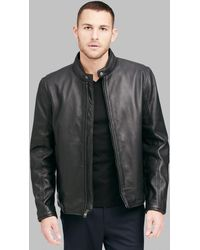 Andrew Marc - Horace Classic Leather Moto Jacket - Lyst