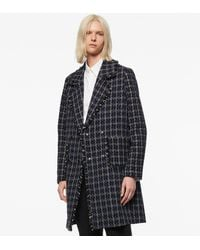 Andrew Marc Calla Double-breasted Tweed Coat - Blue