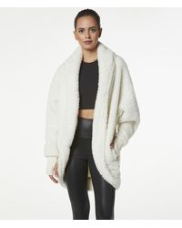 Andrew Marc Ultra Soft Faux Fur Cocoon Wrap - White