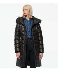 Andrew Marc Plymouth Belted Quilt Down Coat - Black