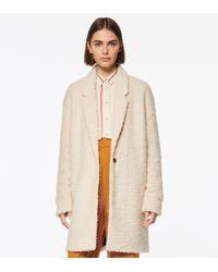 Andrew Marc Chatham Wool Boucle Cardigan Coat - White