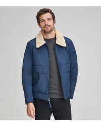 Andrew Marc Porter Aviator Jacket - Blue