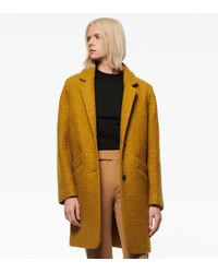 Andrew Marc Paige Wool Boucle Coat - Yellow
