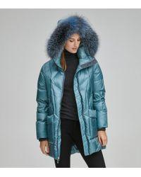 Andrew Marc Mckenna Down Quilted Jacket - Blue