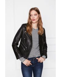 Anine Bing Studded Leather Jacket - Black