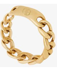 Anine Bing Chain Ring - Multicolor
