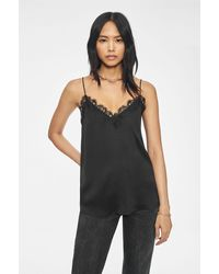 Anine Bing Belle Silk Camisole - Black