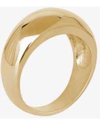 Anine Bing 14k Gold Dome Ring - Metallic