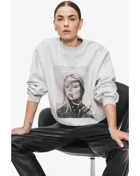 Anine Bing Ramona Sweatshirt Ab X To - Gray