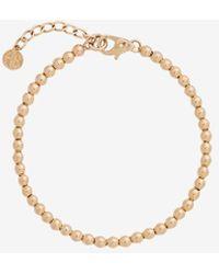 Anine Bing 14k Yellow Gold Mini Bead Bracelet - Metallic
