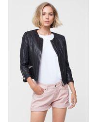 Anine Bing Jacket With Star Studs - Black