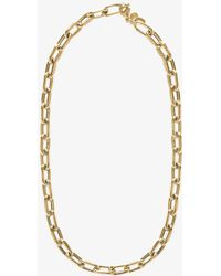 Anine Bing 14k Yellow Gold Delicate Chain Necklace - Metallic