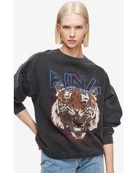 Anine Bing Tiger Sweatshirt - Multicolor