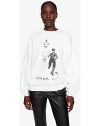Anine Bing Ramona Sweatshirt Ab X To David Bowie - White