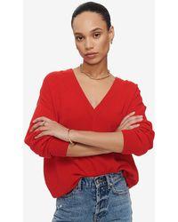 Anine Bing Aniya Cashmere Sweater - Red