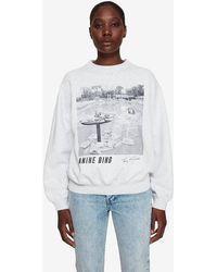 Anine Bing Ramona Sweatshirt Ab X To Faye Dunaway - Gray