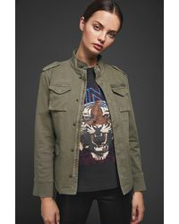 Anine Bing Army Green Cotton Jacket