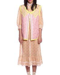 Anna Sui Rosebuds Vest - Pink