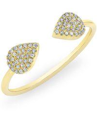 Anne Sisteron - 14kt Yellow Gold Diamond Open Pear Pauline Ring - Lyst