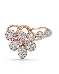 Anne Sisteron - 18kt Rose Gold Diamond Carrie Ear Cuff - Lyst