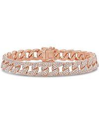 Anne Sisteron - 14kt Rose Gold Diamond Luxe Cameron Chain Link Bracelet - Lyst