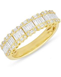 Anne Sisteron - 14kt Yellow Gold Baguette Diamond Ysabel Ring - Lyst