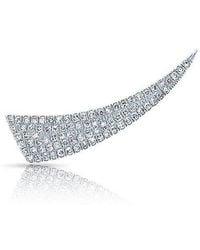 Anne Sisteron - 14kt White Gold Diamond Horn Ear Climber - Lyst
