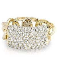 Anne Sisteron - 14kt Yellow Gold Diamond Luxe Id Link Ring - Lyst