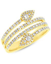 Anne Sisteron - 14kt Yellow Gold Diamond Viper Ring - Lyst